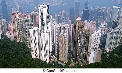 Hong Kong city new district birdeye view