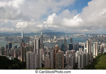 Hong Kong cityscape at noon