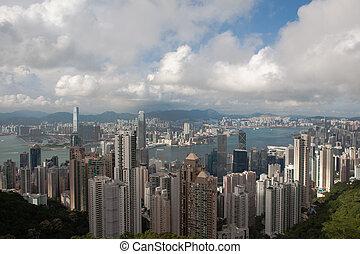 Hong Kong cityscape at noon