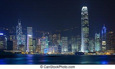 Hong Kong Cityscape - Cityscape of Hong Kong Island viewed ...