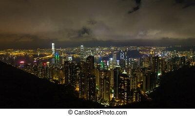 Hong Kong Cityscape Timelapse 1080p - VICTORIA PEAK, HONG...