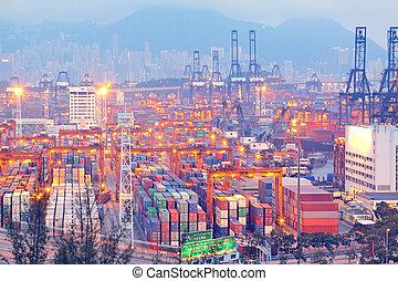 Hong Kong container pier