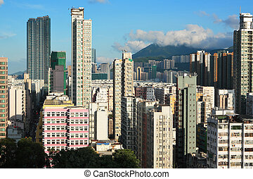 Hong Kong crowded building