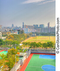 Hong Kong downtown in HDR