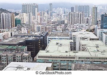 hong kong, en ville, dans, kowloon, district