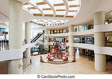 Shopping mall - HONG KONG - FEBRUARY 22: Shopping mall...