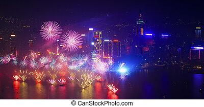 Hong Kong fireworks 2014