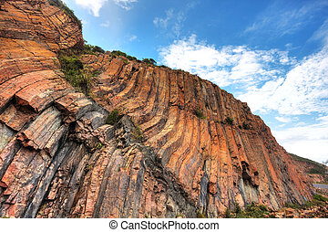 Hong Kong Geographical Park, the force of nature, folding and natural hexagonal column.