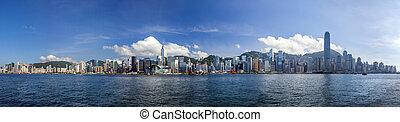 Hong Kong view from victoria habur