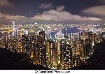 Hong Kong Island Central Cityscape