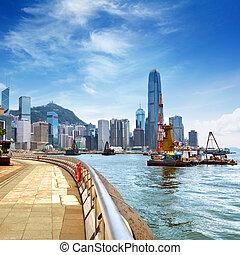 Hong Kong island - Hong Kong Island, Victoria Harbour.