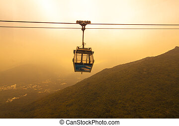 Ngong Ping 360 - HONG KONG - JANUARY 6 :Ngong Ping 360 on...