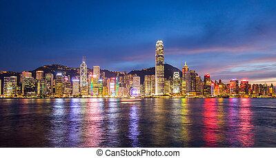 HONG KONG - JULY 29, 2015: Hong Kong, China skyline panorama...