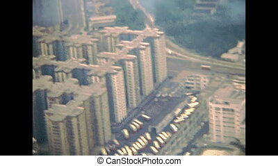 Hong Kong landing - Point of view of a passenger landing by...