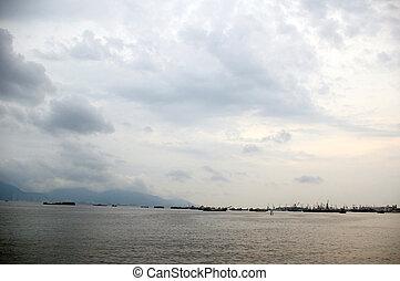 hong kong, langs, landscape, kust