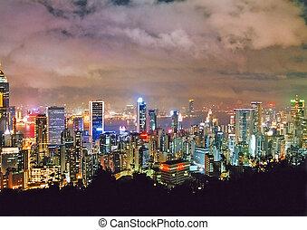 hong kong, lightshow
