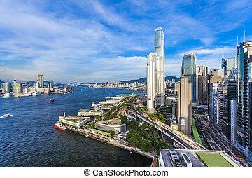 hong kong, moderno, città