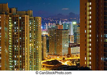 hong kong, moderno, ciudad