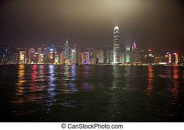 Hong Kong nieght view - Hong Kong China night skyline view...