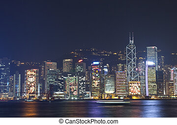 Hong Kong night view at Christmas