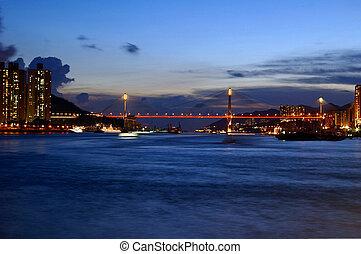 Hong Kong night view at coast