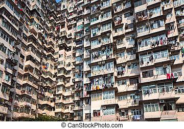 Hong Kong old residential building