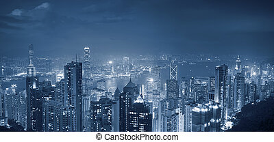hong kong, panorama.