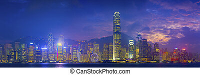 hong kong, panorama.