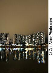 Hong Kong public house and river
