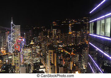 hong kong, scène nuit