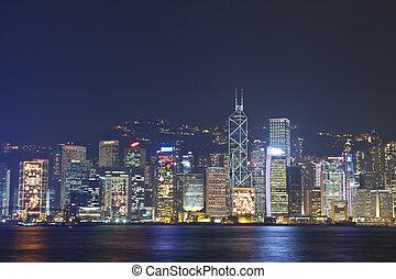 Hong Kong skyline at Christmas 2011