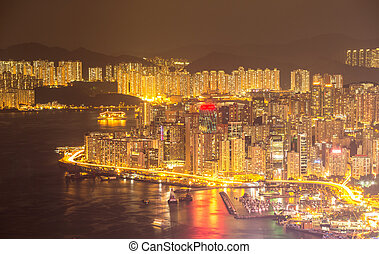 Hong Kong Skyline night