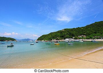 hong kong, strand, dag timen