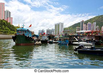 hong kong, tradizionale, rifiuti, in, il, aberdeen