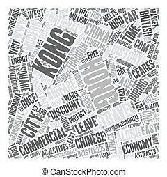 Hong Kong Travel Not for the Faint of Heart text background wordcloud concept