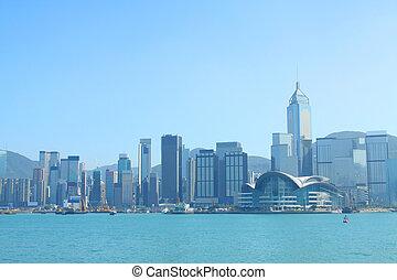 Hong Kong view along Victoria Harbour
