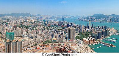 hong kong, vista aérea