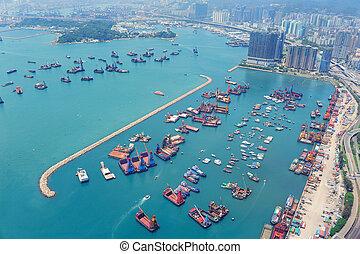hong kong, vue aérienne