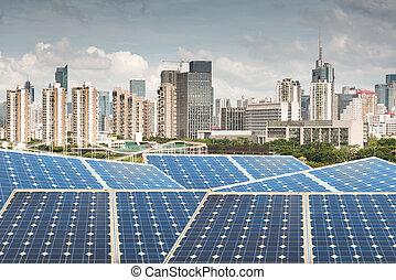 Hong Kong,Ecological energy renewable solar panel plant