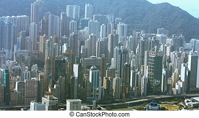 Hong Kong's Cityscape from atop Sky 100 Observation Deck -...