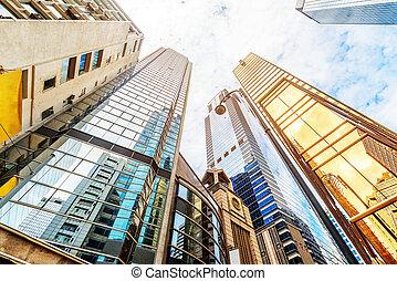 hong, kong's, grattacieli