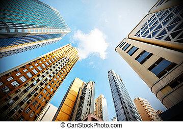 Hong Kong's skyscrapers - Modern office building in Hong...