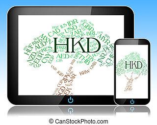 hong, medios, dólar, corredor, kong, moneda, hkd