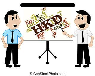 hong, monedas, medios, dólar, kong, moneda, hkd