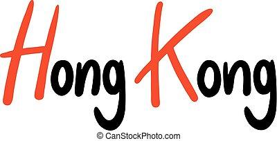 hong, símbolo, kong