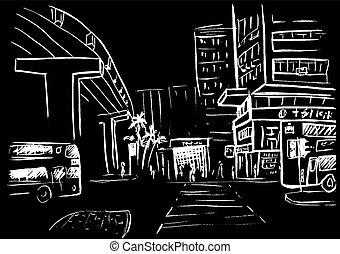hong, ulica, kong
