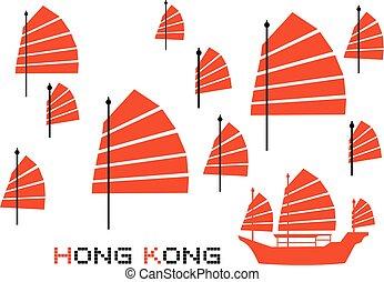 hong, viaje, kong
