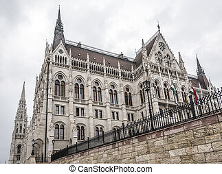 hongaars, parlement, in, boedapest, hungary.