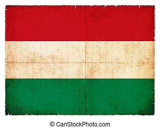 hongarije vlag, grunge