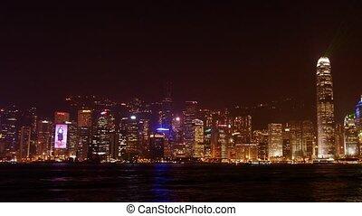Hongkong #2 - Night panoramic time-lapse, laser show